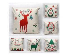 45X45cm Weihnachtsbaum Rot Rotwild Geschenk Art und Weisebaumwollleinen Kissen Kasten Weihnachtsmann Ausgangsdekor-Kissen Kissenbezug