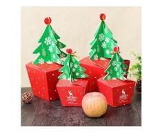 Weihnachten 2017 Papier Geschenkbox Süßigkeiten Box Fit Hochzeitsfest Weihnachtsbaum Muster Schmuck Verpackung Box-Geschenk Boxen