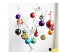 Weihnachtsbaum Dekoration Weihnachten Dekorative Ball Kunststoff Ball Helle Dumb Lines Geschenk Hängen Dekorationen Geschenk-Weihnachten Verkauf