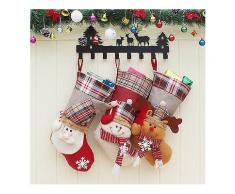 Weihnachtssüßigkeitstasche Stocking Weihnachtsmann Socke Geschenk Tasche Flitter Weihnachtsbaum Ornamente Dekoration-Weihnachten Verkauf