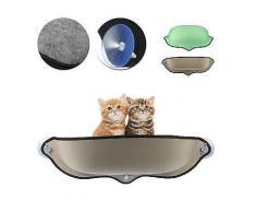 Katze Fensterbett Hängematte Sitzbarsch montiert Sofa Matte hängendes Kissen mit Saugnapf-Katze Sänfte ,Bett Hause
