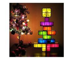 DIY Tetris Puzzle Neuheit LED Nachtlicht Stapelbar LED Schreibtisch Tischlampe Constructible Block Kinder Spielzeug Licht Weihnachtsgeschenk-Stage Lights