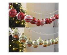 24 STÜCKE 6 cm Weihnachtsbaum Ball Baubles Party Hochzeit Hängen Ornament Weihnachtsdekoration Lieferungen-Weihnachten Verkauf