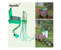 Aqualin Automatic Micro Home Drip Irrigation Watering Kits System Sprinkler with Smart Controller-Bewässerungsuhr Zubehör