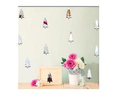 Weihnachten 2017 Funlife Kinderzimmer Dekoration Wandaufkleber Weihnachtsbaum Wald Dekoration-Festival Decor Sticker
