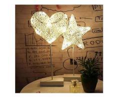 Weihnachten LED Rattan Tisch Mini Nachtlicht Schreibtischlampe Hochzeit Schlafzimmer Weihnachtsdekor Geschenke-Decorative Table Lamp