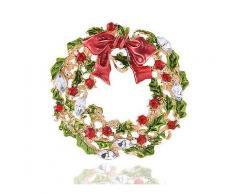 Weihnachtsbaum und Kranz Brosche Neujahr Dekorationen Geschenk Shirt Kragen Brosche -Weihnachten Verkauf