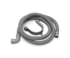 2 m x 24 mm PVC flexibel Ellenbogen Waschmaschine Ablaufschlauch mit Halterung-Metall Zubehör