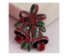 Weihnachten Retro Glocke Festliche Brosche Pin Geschenk Shirt Kragen Brosche Splitter Gold -Weihnachten Verkauf