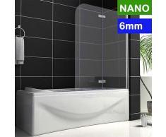 Badewanne 2-ftg.Falttür Duschwand Drehen 180°trennwand duschabtrennung 100x140cm