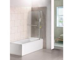 Badewanne 2 tlg. Faltwand Duschwand Drehen 180°duschabtrennung 120x140cm
