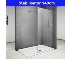 duschabtrennung duschwand seitenwand walk in dusche glaswand 70 76 80 90 cm - Bodenebene Dusche Glaswand