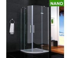 Duschkabine Doppel Falttür Duschtür 80x80x195 NANO+ Duschtasse