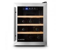 Klarstein - Klarstein Reserva 12 Uno Weinkühlschrank 9 Flaschen 33 Liter Edelstahl LED, A+