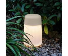 FontanaArte Koho Bodenleuchte ø 17 H: 28 cm, grau 4249G, EEK: A+. Diese Leuchte enthält eingebaute LED-Lampen. A++ (LED), A+ (LED), A (LED). Die Lampen können in der Leuchte nicht ausgetauscht werden.
