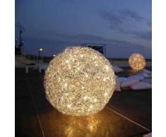 Catellani & Smith FIL DE FER Terra Outdoor IP65 LED Bodenleuchte Ø 70 cm, aluminium F7IP, EEK: A+. Diese Leuchte ist geeignet für Leuchtmittel der Energieklassen: A++, A+, A, B, C. Die Leuchte wird verkauft mit einem Leuchtmittel der Energieklasse: A+.