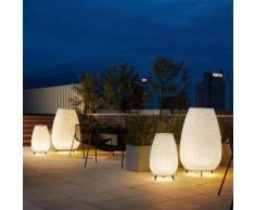 Bover Amphora 03 Bodenleuchte Ø 89 H: 137 cm, beige/braun 0333003+P-747, EEK: A++. Diese Leuchte ist geeignet für Leuchtmittel der Energieklassen: A++, A+, A, B.