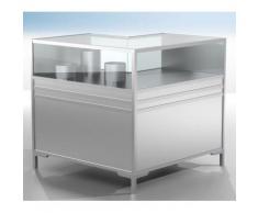 LINK Theken-Eckvitrine - 1/3 verglast - HxBxT 900