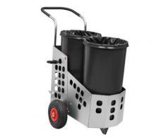 Reinigungswagen, Stahlblech - EASY DUO mit 2 x