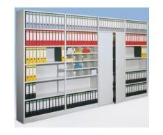 Büro-Steckregal, mit Rückwand - Regalhöhe 2250 mm -