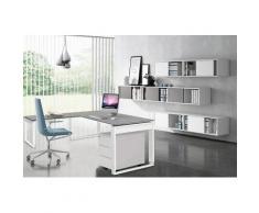 FRESH Büromöbel Set, 1 Arbeitsplatz inkl. Wandregal, 320x450cm