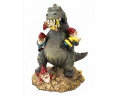 Dinosaurier Gartenzwerg Massaker Halloween-Dekofigur bunt 27cm