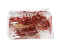 Körperteile in Schale Halloween Party-Deko rot 16x11cm