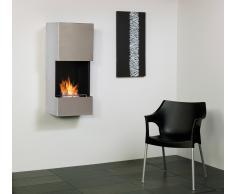 muenkel design wall flip Bio Wandkamin: Edelstahl, matt