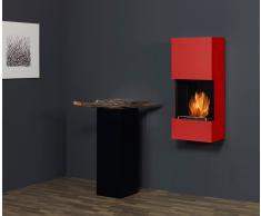 muenkel design wall flip Bio Wandkamin: Feuerrot