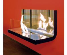 Radius Design Radius Wall Flame Edelstahl: mit Scheibe - Edelstahl Hochglanz