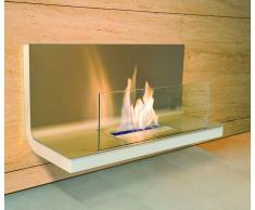 Radius Design Radius Wall Flame Edelstahl: mit Scheibe - Edelstahl Weiß