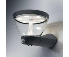 Osram Endura Style Lantern Solar/AC LED Wandleuchte B: 26,7 H: 17 T: 21,3 cm, dunkelgrau 4058075032484, EEK: A+. Diese Leuchte enthält eingebaute LED-Lampen. A++ (LED), A+ (LED), A (LED). Die Lampen können in der Leuchte nicht ausgetauscht werden.
