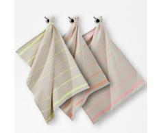 La Redoute - 3er-Pack Geschirrtücher, Halbleinen, Streifen in Neonfarben