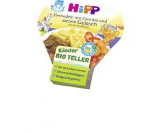 Hipp Kinderteller Eiernudeln mit Gemüse und zartem Gulasch ab 1 Jahr