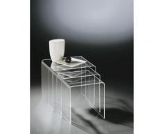 MiaMöbel Acryl Dreisatztisch klar Acryl Modern