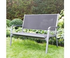 Kettler Basic Plus 2er Gartenbank B: 138 H: 970 T: 640 mm, silber/anthrazit 0301211-0000