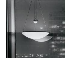 Luceplan Trama D14 sa. Pendelleuchte mit Zug Ø 64 H: 80/170 cm, aluminium 1D14SA000020, EEK: C. Diese Leuchte ist geeignet für Leuchtmittel der Energieklassen: C, D, E.