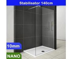 Walk in Duschabtrennung Duschwand 10mm NANO Glas 100x200cm