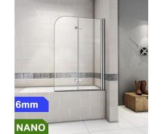 Badewanne 2-ftg.Falttür Duschwand duschabtrennung 120X140cm