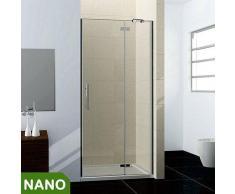 100x195cm Duschkabine Duschabtrennung NANO +Duschtasse 100x100cm
