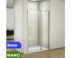 Duschabtrennung 100x195cm 8mm NANO Glas + Duschtasse 100x76