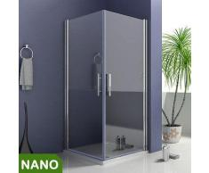 76x76X185cm Duschkabine Schwingtür Duschabtrennung NANO Glas